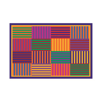 Fun Time-NEW Kids Home Decorative Area Rug Nylon Rainbow Stripes -39X58