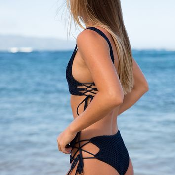 ACACIA Swimwear 2018 Murray Crochet Bottom in Catch of the Day