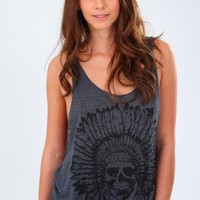 Indian Chief Tank- Charcoal