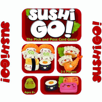 Sushi Go Board Game The Pick And Pass Cards Game 2-5 Players Family Game For Children With Parents Free Shipping