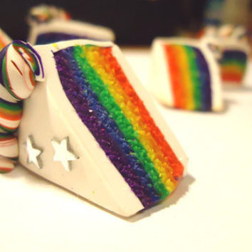 PHONE CHARM  Rainbow Cake by FrozenNote on Etsy