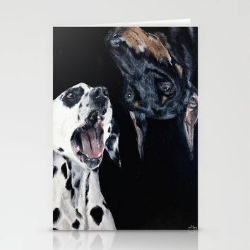 Contrasting Dogs Stationery Cards by Yuval Ozery