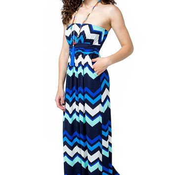 Zig Zag Pocket Maxi Dress