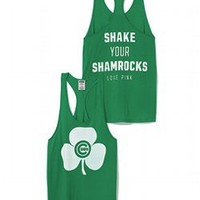 Chicago Cubs St. Patricks Day Tank - PINK - Victoria's Secret