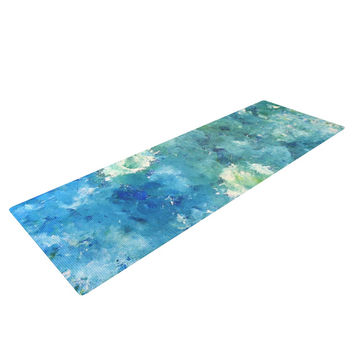 "CarolLynn Tice ""Sporatically"" Teal Green Yoga Mat"