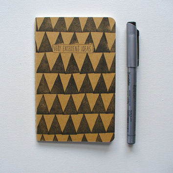 moleskine notebook - very excellent ideas, journal, geometric, triangle, back to school