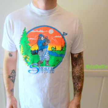 Vintage Smokey Golf Classic Graphic Tee 1990