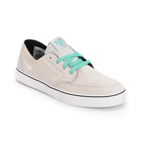 Nike SB Braata LR Neutral Grey, White & Crystal Mint Skate Shoe at Zumiez : PDP