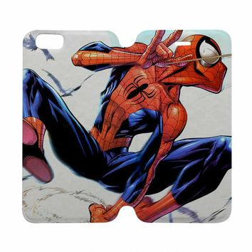 THE AMAZING SPIDERMAN Marvel Wallet Case for iPhone 4/4S 5/5S/SE 5C 6/6S Plus Samsung Galaxy S4 S5 S6 Edge Note 3 4 5