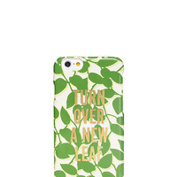 Kate Spade Turn Over A New Leaf Resin Iphone 6 Case Garden Green ONE
