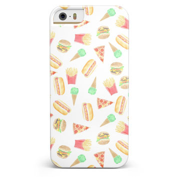 The Fun Fries,Pizza,Dogs, and Icecream iPhone 5/5s or SE INK-Fuzed Case