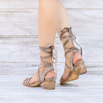 city chic wrap suede sandals - more colors