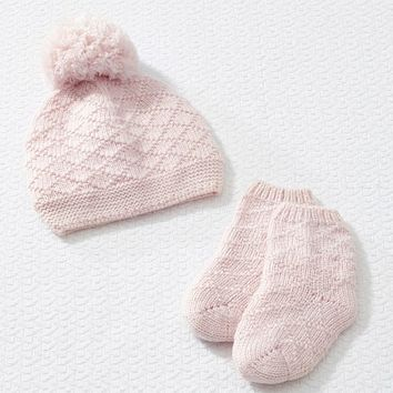 Luxe Knit Hat & Bootie Set