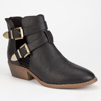Yoki Catalina Womens Booties Black  In Sizes