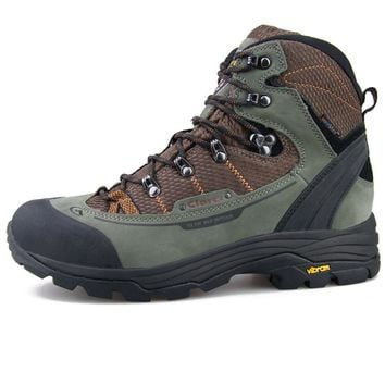 Clorts Waterproof Hunting Boots Vibram Anti-skid Outsole Mountain Shoes Man Genuine Leather Hiking Boots for Men 3A003