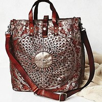 Campomaggi Womens Moonshine Metallic Leather Tote
