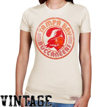 Mitchell & Ness Tampa Bay Buccaneers Ladies Vintage Graphic Premium T-Shirt - White