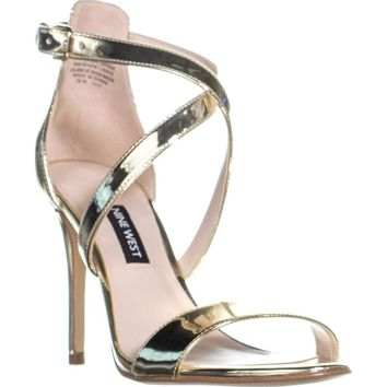 Nine West Mydebut Dress Heel Sandals, Light Gold, 7 US