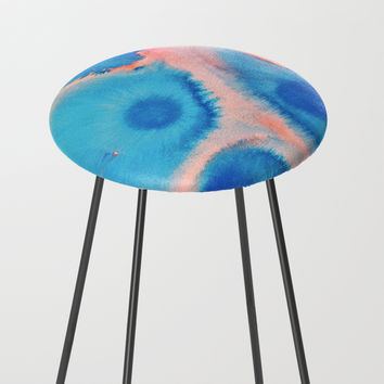 Sea Urchins & Coral Counter Stool by duckyb