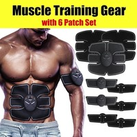 12pcs/Set 10 Grade 6 Mode Unisex EMS ABS Workout Muscle Trainer Training Gear Stimulation Musculation Toner Toning Belt Fat Burn