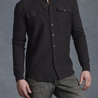 John Varvatos Mobile - Long Sleeve Sweater With Button Front