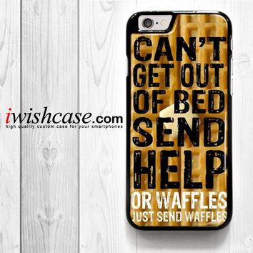 Super Cute Funny Waffle Pancake Food for iPhone 4 4S 5 5S 5C 6 6 Plus , iPod Touch 4 5  , Samsung Galaxy S3 S4 S5 S6 S6 Edge Note 3 Note 4 , and HTC One X M7 M8 Case