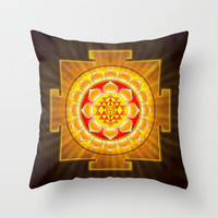 Sri Yantra XIII Throw Pillow by Dirk Czarnota