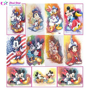 Zhui Star CARTOON Mouse 5D Diy Diamond Painting Full Round Drill Resin Pasted Embroidery Pattern Cross Stitch Kits Nedleworks