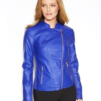 Calvin Klein Jacket, Faux-Leather Moto - Jackets & Blazers - Women - Macy's
