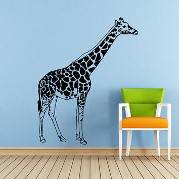Wall Decals Giraffe Animals Jungle Safari African Childrens Decor Kids Vinyl Sticker Wall Decal Nursery Bedroom Murals Playroom Art SV6058