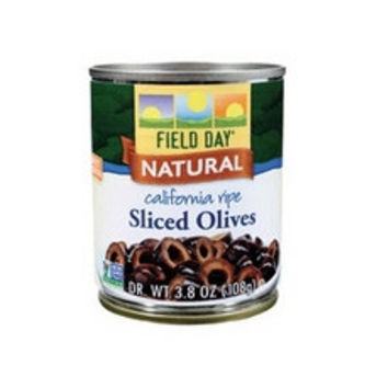 Field Day California Ripe Sliced Black Olives -12x3.8Oz-