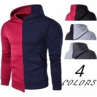 Patchwork Hats Hoodies Winter Men Stylish Strong Character Pullover Long Sleeve Scales [10669405251]
