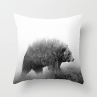 Oh Deer Throw Pillow by Cafelab