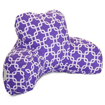Purple Links Reading Pillow