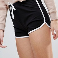 ASOS DESIGN Tall Basic Runner Shorts With Contrast Binding at asos.com