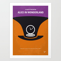 No140 My Alice in Wonderland minimal movie poster Art Print by Chungkong