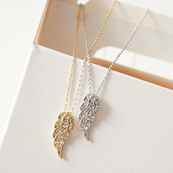 Angel Wing Necklace, Cubic Necklace, Beautiful Necklace, Korean Necklace, Angel Necklace