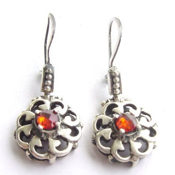 Sterling Silver Decorative Earrings III