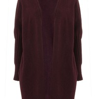 Ribbed Puff Sleeve Cardigan - Sweaters & Knits - Clothing