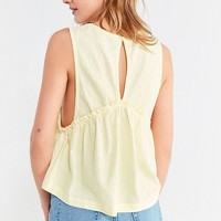 UO Melody Plunging Babydoll Top | Urban Outfitters