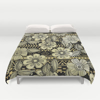 Floral Ink Duvet Cover by Louise Machado
