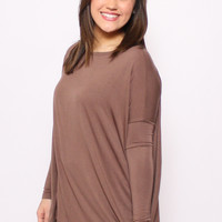 Piko Top: Chocolate Brown