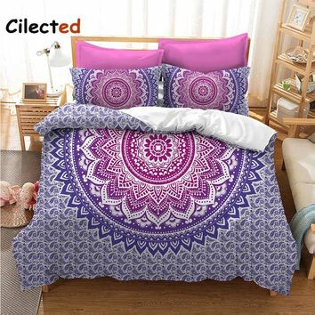 Cilected Bohemian Mandala Duvet Cover Sets Printed Bedspread Bedsheet Pillowcase Bedding Set Custom links Drop Shipping