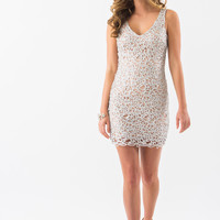 Liliana Silver Sequin Bodycon Dress