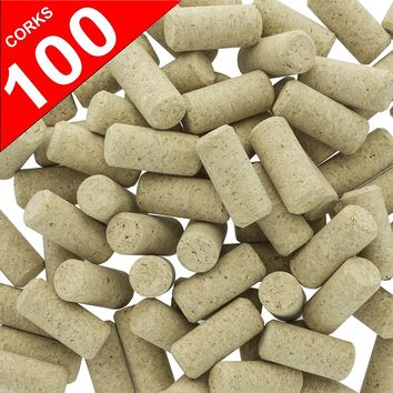 Wine Cork 100 New Wine Corks - #9 Agglomerated Natural Cork for Corking Home Wine Making Bottles With Corker or Bulk Craft Corks