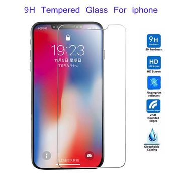 HD Tempered Glass For iphone XS Max XR 6 6s 7 8 plus 5 5s SE 5c 4s 9H Screen Protector Guard Film Cover For iphone X XS Max XR