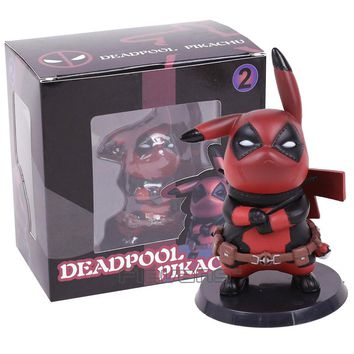 Deadpool or Captain America Pikachu Mini Collectible Model Toy