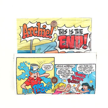 Archie Betty and Veronica Riverdale Women's Wallet, Upcycled Comic Book, Long Ladies Clutch Wallet, Unique Wallets, One of a Kind Gifts