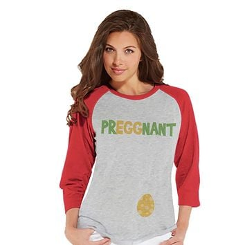 Custom Party Shop Womens PrEGGnant Pregnancy Reveal t-shirt