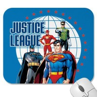 Justice League Global Heroes Mousepads from Zazzle.com